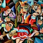 composition--Worshipers--oil on canvas 100x80cm.-2005. Original