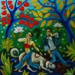 --Dialogue--oil on canvas 70x70cm.Original
