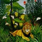 --Jungle. Exotic lanscape#7--oil on canvas80x80cm. Original