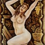 --Ripe fruit--acrylic on canvas 70x70cm. 2010.