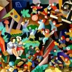 composition-- Kindergarten-- oil on canvas 60x70cm Original