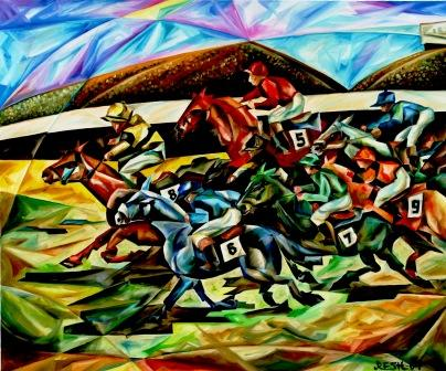 --Flat races--oil on canvas 120x100cm.-2004. Original