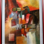 Abstract composition #4--oil on paper 70x50cm.