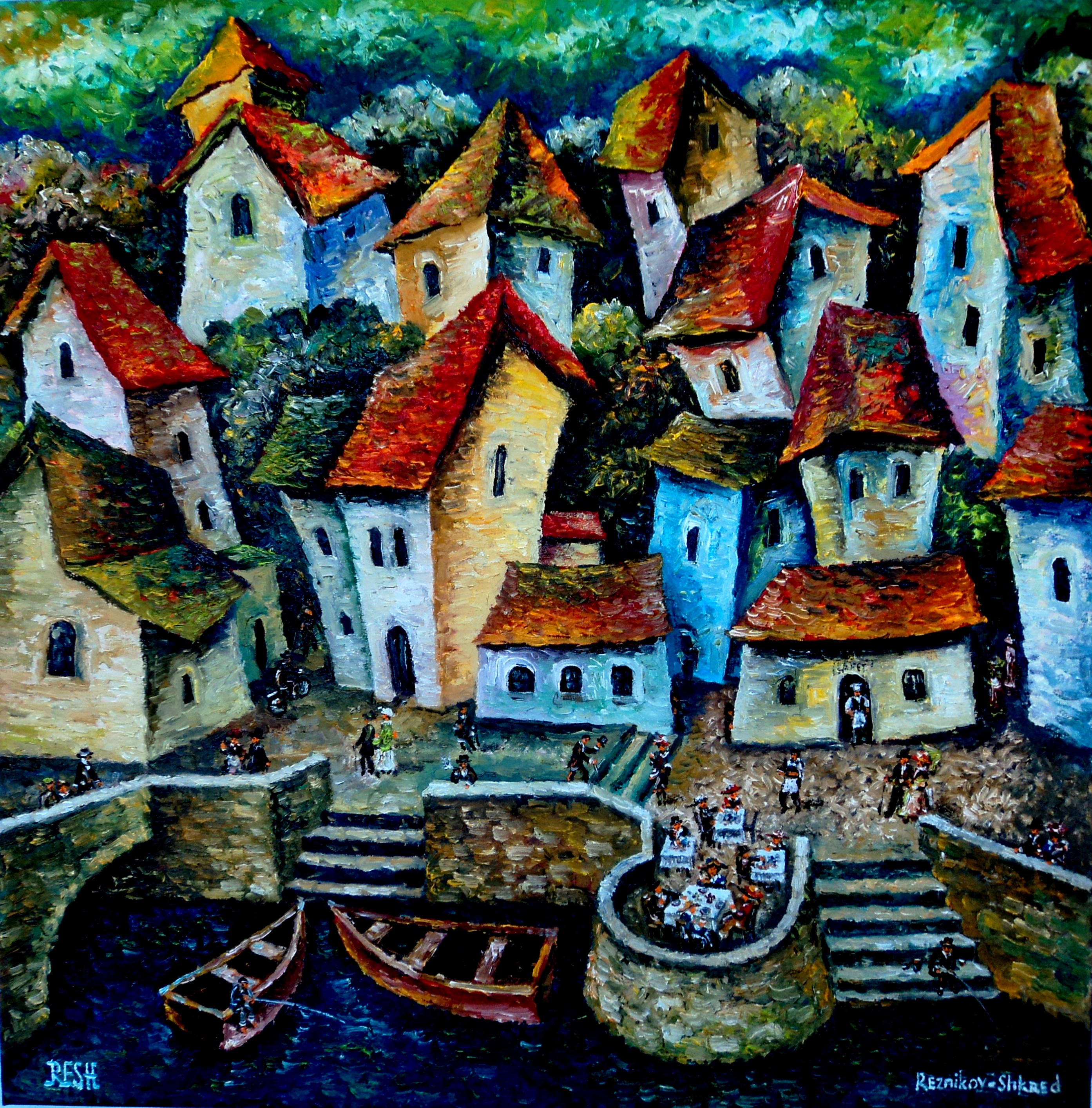 --Composition #104—oil on canvas 60x60cm.