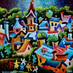 --Composition #108—oil on canvas 60x60cm.