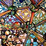 Composition--Structure--mixed technics on canvas 120x 100cm.